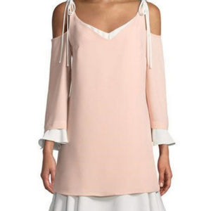 Nanette Lepore Cold-Shoulder Shift Dress Pink Size